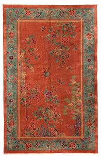 ANTIQUE CHINESE ART DECO CARPET - No reserve. 16 ft 2 in x 10 ft 6 in (4.92m x 3.20m)