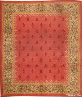 ANTIQUE ENGLISH RED CARPET. 13 ft 4 in x 11 ft 4 in (4.06 m x 3.45 m).