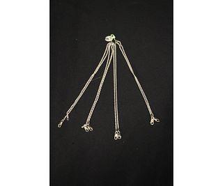 NEW SET OF 8 DIAMOND-CUT STERLING SILVER BRACELETS