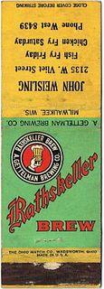 1938 Rathskellar Brew 115mm long WI-GET-5 John Weisling 2135 W Vliet Street