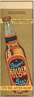 1935 Blumer's Golden Glow Beer (sample) 114mm long WI-BLUMER-4