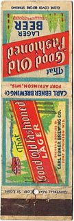 1933 Good Old Fashioned Lager Beer 121mm long WI-EBNER-1 No Advertising
