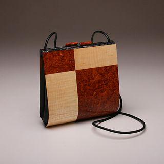 """Trillium"" Special Edition Wood Handbag"
