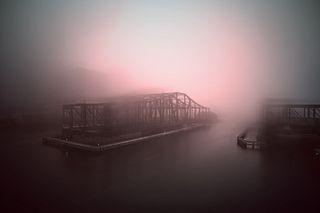 Jeffrey Heyne - Bridge with Manganese Blue and Quinacridone Magenta, 1:31pm *