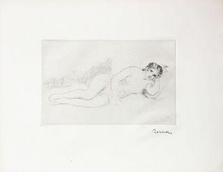 Pierre-Auguste Renoir - Femme Nue Couchee Tournee a Droite