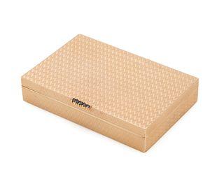 14K Gold and Sapphire Cigarette Case