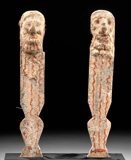 Egyptian Painted Wood Legs from Royal Seat / Stool
