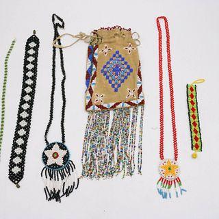 Native American Beadwork & Leather Purse