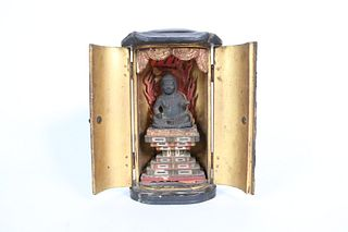 Case of Zushi and Metal Plaque of Fudo Myoo