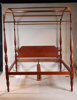 Eldred Wheeler Federal Style Cherrywood Tester Bed