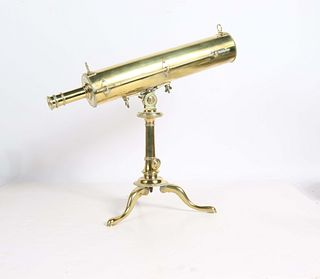 English Brass Tabletop Telescope
