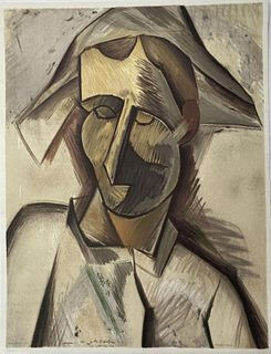 Pablo Picasso - Tete dArlequin