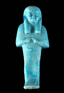 Egyptian Third Intermediate Glazed Faience Ushabti