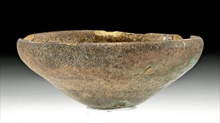 Egyptian Late Dynastic Glazed Pottery Dish