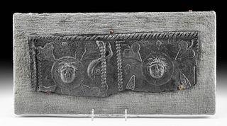 Roman Lead Sarcophagus Panel Fragment, ex-Arte