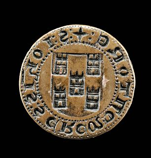 13th C. Medieval Spanish Brass Seal, Torres Family