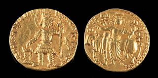 Bactria Kushan Kingdom Vasu Deva I - Gold Dinar