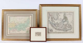Three Maps, Isle of Wight, East Indies, Russian