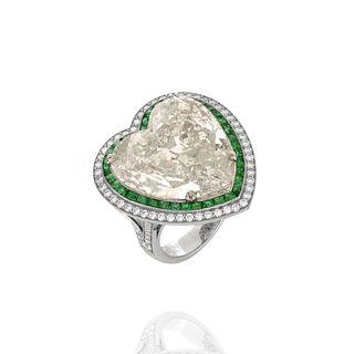 EGL 15.01 Carat Diamond and Platinum Ring
