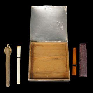 Cigarette Box and Holders