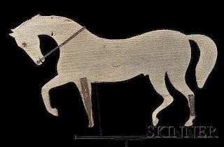 Painted Wooden Walking Horse Weathervane