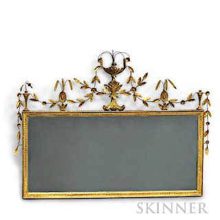 Federal-style Gilt Overmantel Mirror