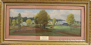 James Franklin Gilman (Massachusetts and Vermont, 1850-1929)       The Rufus Sibley Farm, Jennison Road, Wendell, Massachusetts.