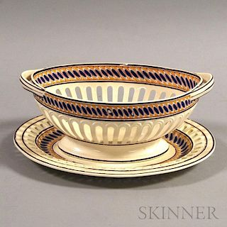 Spode Reticulated Basket and Undertray
