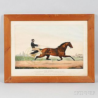 Currier & Ives, publishers (American, 1857-1907)       The Trotting Stallion Tom Moore
