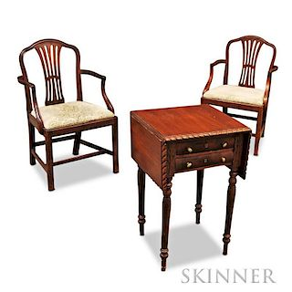 Three Pieces of Federal-style Mahogany Furniture