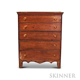 Country Pine Tall Chest