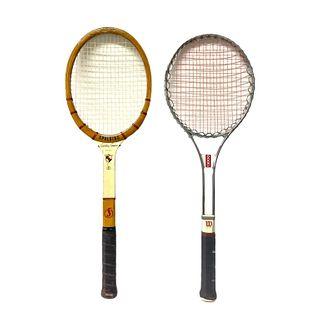 2 Vintage Tennis Rackets Spalding & Wilson