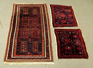 Baluch Rug and Pair of Baluch Bag Faces