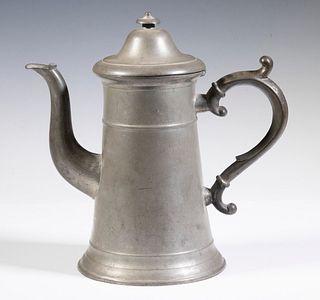 JOHN MUNSON PEWTER COFFEEPOT