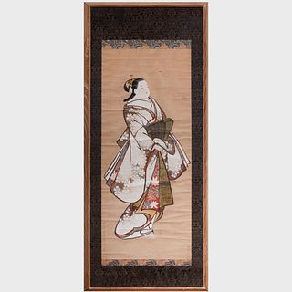 Kaigetsudo Scroll Painting of a Courtesan