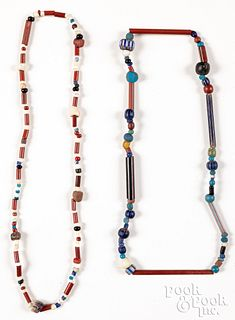 Susquehannock Indian strands of glass trade beads