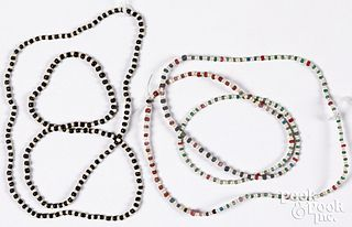 Two strands of Native American Indian pony beads