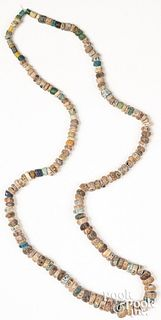 Necklace strand of heavily patinated
