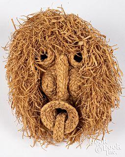 Iroquois Indian corn husk mask, ca. 1980