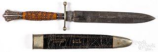 G. Wostenholm I-XL bowie knife and sheath
