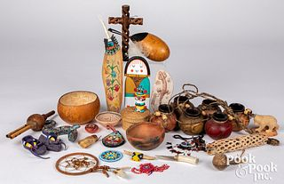 Group of Native American Indian items