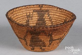 Apache Indian miniature figural coiled basket