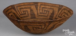 Round bottomed Apache Indian coiled tray basket