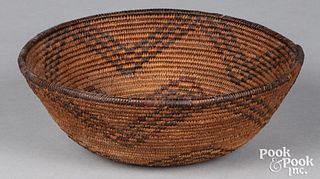 Apache Indian coiled basket, ca. 1900
