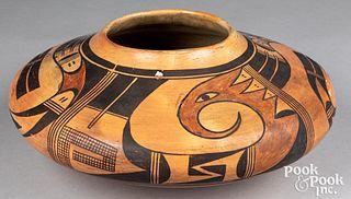 Large Hopi Indian polychrome Sikyatki style vessel