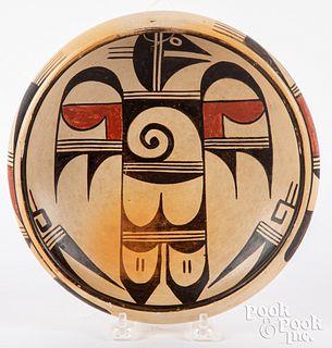 """Sadie Adams """"Flower Girl"""" Hopi Indian bowl"""