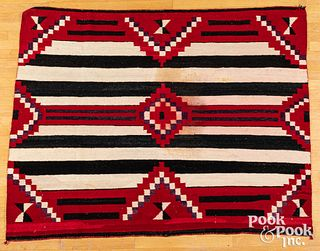 Navajo Indian analine-dyed rug, 20th c.