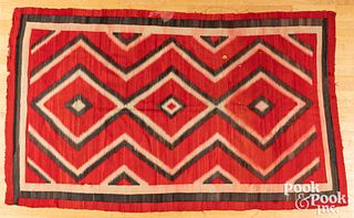 Navajo Indian analine-dyed blanket, early 20th c.