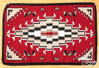 Navajo Indian Ganado textile rug, mid 20th c.
