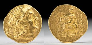 Thracian Kingdom Gold Stater of Lysimachus